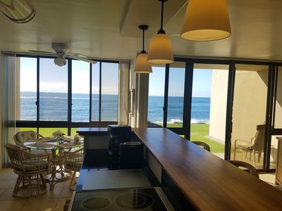 Photo for Oceanfront Condo with A/C, 10 Steps to the Ocean, Ground Floor, Kuhio Shores 112