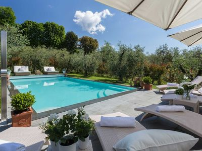 Photo for A/C Villa with Amazing Views, SPA, Private Pool & Jacuzzi Close to Lucca Town