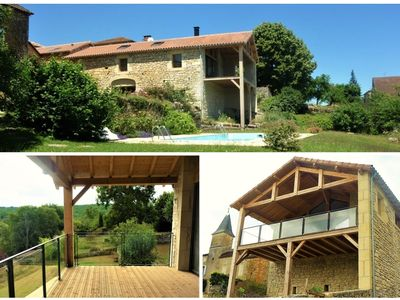Photo for New luxury renovation of an ancient stone barn in a medieval bastide village