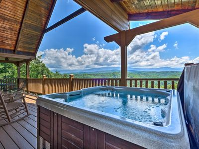 Photo for Lavish Sevierville Cabin w/ Hot Tub+Stunning Views