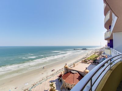 Photo for Oceanfront condo w/ balcony, shared pools, hot tub, & more - snowbirds welcome!