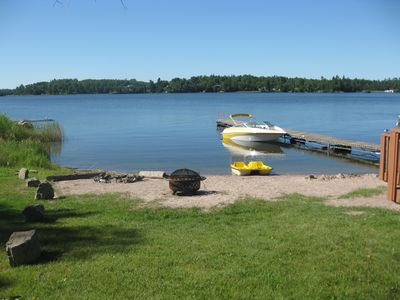 Photo for Gorgeous Beachfront Cottage on Lake of the Woods Kenora w/boat launch!