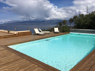 Photo for VILLA DESIGN - SAGONE GOLF SEA VIEW IMPRENABLE - SWIMMING POOL PROMOTION June Jul