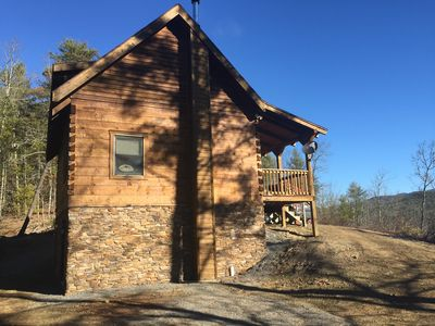 Photo for Highland Nest - Log Cabin - Stunning Mountain Views To National Forest