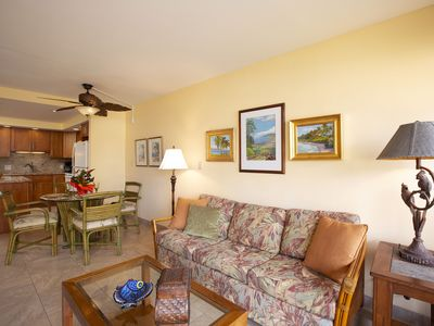 Photo for Remodeled, Well Supplied, Ocean View from Lanai,  Kamaole Beach II Across Street