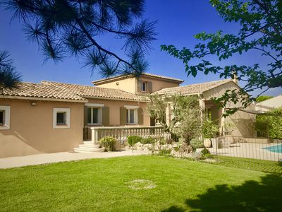 Photo for villa with pool between avignon and st rémy de provence garden with trees