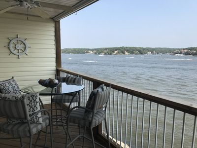 Photo for Beautiful Condo, Main Channel View! Sleeps 10! Two Lakeside Bedrooms/Decks!