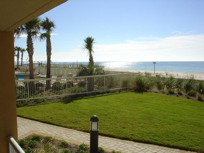 Photo for Ground Floor Water Front with Great View, Easy Access to Grass, pool and beach