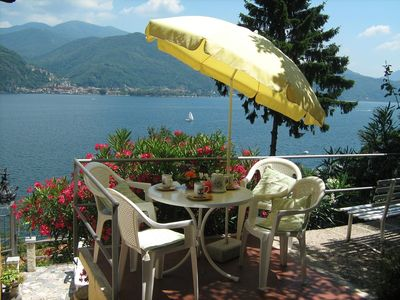 Photo for Bild Lago Maggiore apartment with lake view and panoramic terrace