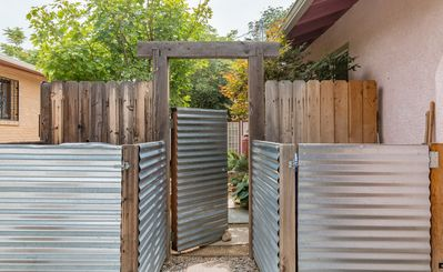 secure gate to garden access