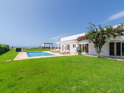 "Photo for Spacious Villa ""Es Far"" Directly by the Beach with Sea View, Wi-Fi, Garden, Pool & Terraces; Parking Available"