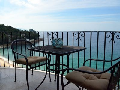 Photo for Beachfront tranquility with beautiful views of Banderas Bay and Puerto Vallarta
