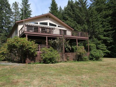 Photo for Trillium Home on 3  Acres & firepit surrounded by Redwoods with hot tub