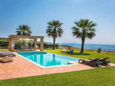Photo for Fantastic sea front position with great sea views and lovely gardens. Trully relaxing and high quality decor and attention to detail make Alegria the perfect away from it all villa.