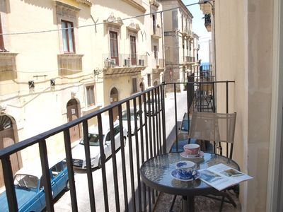 Photo for Lovely apartment with balcony in the heart of Ortigia, 30m away from the beach