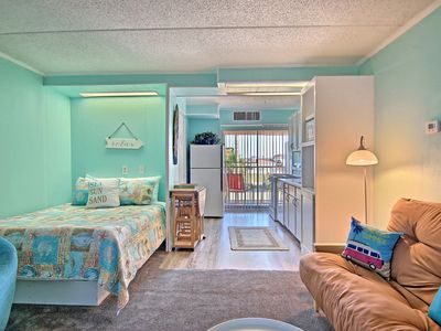 Photo for NEW! Family-friendly! Studio by water w/pool! 1/2 mi. to Schlitterbahn Riverpark