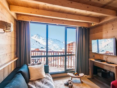 Photo for Val Thorens-Cozy Duplex 3 bedrooms ski slopes with views SI456 ****