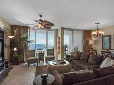 Photo for 1802 - 3 Bedroom 3 Bath. Living Room and Master Bedroom Face the Gulf!