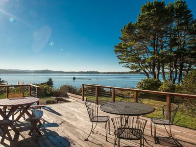 Photo for Heron House: a beautiful bay front home in Lincoln City with panoramic views!