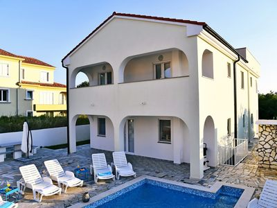 Photo for New modern villa with pool, 900 meters from the beach with magnificent sea views