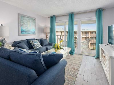 Photo for Enjoy the Ocean Breeze! Oceanfront Condominium with Pool,  Fitness Center, Tennis