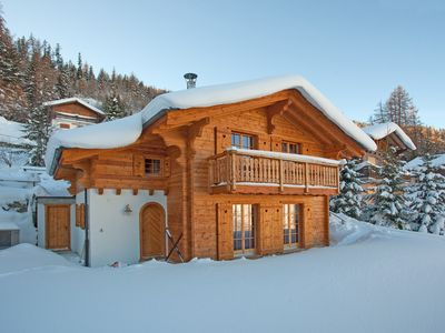 Photo for Chalet Des Coeurs - Beautiful ski-in/ski-out chalet with views over RhoneValley