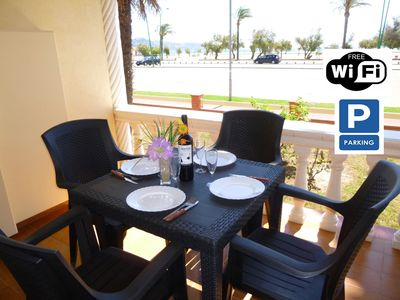 Photo for Apart-Rent- Apartment in front of the beach with wifi (0018)