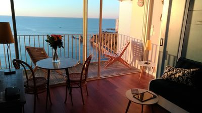 Photo for STUDIO WITH BALCONY- WONDERFUL VIEW OVER COTE DES BASQUES BEACH- BIARRITZ