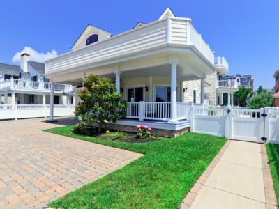 Photo for SECOND OFF THE BEACH IN AVALON SOUTH-END! GORGEOUS 5BR, 5BA W/POOL AND VIEWS!