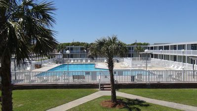 Photo for Waterfront, Poolside Unit 115, Ground-floor, King Bed, Dock, + WiFi