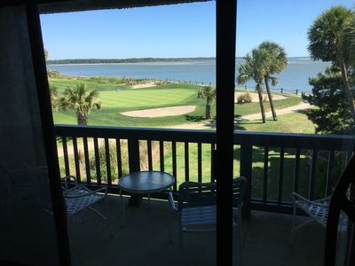 Photo for ENJOY THE OCEAN FROM YOUR BALCONY AND WATCH THE GOLFERS ON THE 18TH HOLE.
