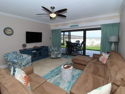 Photo for Shipwatch A102- Adorable Beach Front, Ground Floor Retreat!