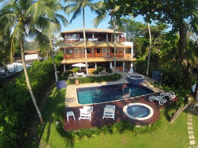 Photo for Magnificent home standing on the sand 4 suites (all with air cond.) Pool and whirlpool