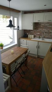 Photo for Beautiful Cottage, Old Town Location, Yards from Beach, Sea Views & Courtyard