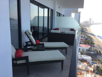 Photo for Brand new 10th floor Condo on the beach in Mazatlan