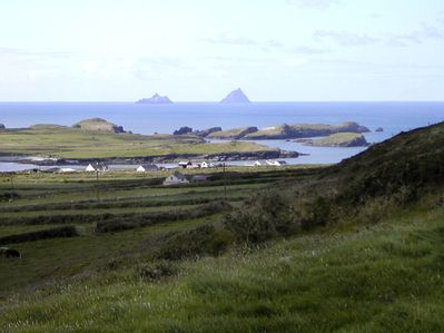 View from the property across to the Skellig Islands