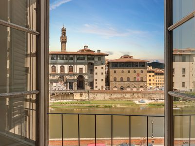 Photo for Prometeo- Classic apartment overlooking the Arno river