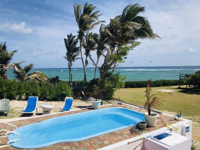 Photo for Lovely Beachhouse, 1acre oceanfront property access sandy beaches on either side
