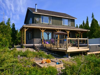 Photo for Tobermory Cottage - Lake Huron Waterfront, Hot tub