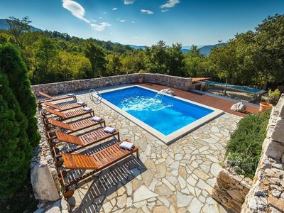 Photo for Stunning rustic villa with pool near Crikvenica