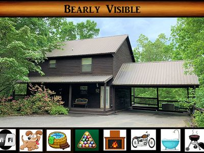 "Photo for ""Bearly Visible"" - Secluded / Hot Tub / Pool Table / Jacuzzi Tub / WiFi"