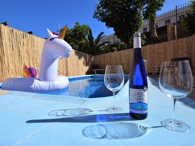 Photo for Private pool with BBQ in front of the beach - Apartment for 3 people in El Rosario