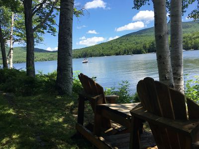 Photo for Relax & enjoy 240' lake frontage on Stinson Lake- Rumney, NH, with private beach