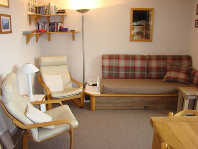 Photo for Les Coches apartment, two bedrooms, stylish and cosy, superb Mont Blanc view