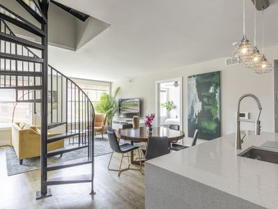 Photo for Stylish 2 BR Loft w/Roof Deck near Grove St PATH