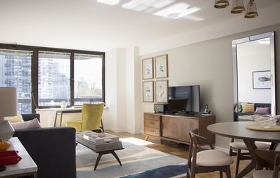 Photo for LARGE, MODERN 1br - Columbus Circle - 24hr Doorman - Priv. Balcony & River Views