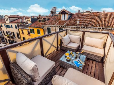Photo for Splendid 'altana' roof terrace offering exceptional accommodation