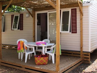 Photo for Camping Les Cigales **** - Air-conditioned mobile home 4 rooms 6 persons