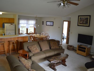 Photo for Deer Park/Loon Mtn. - Riverfront Condo – Near Clubhouse - WIFI