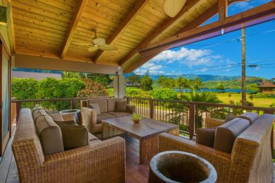 Another view of Hanalei Bay from our Lanai